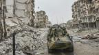 Russische Truppen in Aleppo, Syrien.