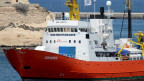 Das Rettungsschiff Aquarius im Hafen von Malta.