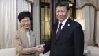 Carrie Lam und Xi Jinping.