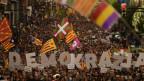 Proteste für die Unabhängigkeit Kataloniens im September 2019.