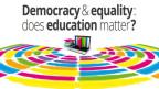 Plakat des World forum for democracy.