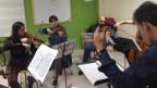 Das Orchester «Carlos Tercero» bei den Proben.
