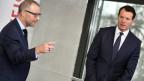 CEO Heinz Huber und VR-Präsident Guy Lachappelle.