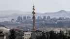 Blick auf Ostjerusalem und auf eine Siedlung im Westjordanland.