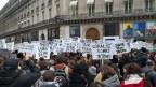 Demonstration in Paris gegen häusliche Gewalt