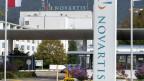 Der Eingang zu den Produktionswerken von Novartis in Stein, Kanton Aargau.