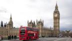 Blick auf das britische Parlament und den Big Ben.