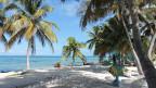 Ein Sandstrand im karibischen Belize.