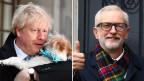 Boris Johnson (links) und Jeremy Corbyn.