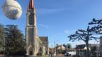 Der Dorfplatz von Lancy.