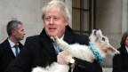 Boris Johnson mit seinem Hund.