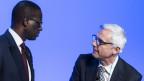 Tidjane Thiam (links), CEO Credit Suisse, und Urs Rohner, Präsident der Credit Suisse am 19.11.2019.
