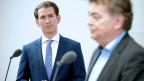 Sebastian Kurz, ÖVP, und Werner Kogler (Grüne) in Wien.