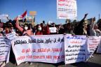 Protest in Bagdad gegen iranischen und amerikanischen Einfluss.