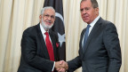 Libyens Außenminister Mohamed Taha Siala (li.) und Russlands Außenminister Sergei Lavrov.
