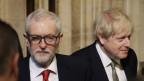 Noch-Chef der Labour-Partei Jeremy Corbyn neben Premierminister Boris Johnson