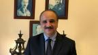 Im Empfangsraum seiner Villa in Bagdad hat Sharif Ali bin-Hussein eine kleine Ahnengalerie zusammengestellt.