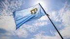 Eine Krim-Tataren-Flagge