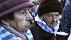 Überlebende des Vernichtungslagers Auschwitz-Birkenau versammelten sich zum 75. Jahrestag der Befreiung des Lagers durch die sowjetische Armee.