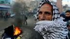 Palästinenser am Rande einer Protestkundgebung gegen den Nahost-Friedensplan des US-Präsidenten Donald Trump.