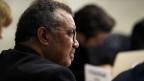 Tedros Adhan Ghebreyesus, WHO-Generaldirektor, informiert  über die Situation in Bezug auf das Coronavirus in Genf.