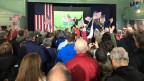 In einer Schule in New Hampshire finden Vorwahl-Veranstaltungen für die Präsidentschaftswahlen in den USA statt.
