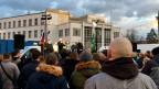 Wahlveranstaltung der Kotlebovci im westslowakischen Nitra.
