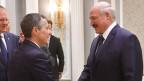 Schweizer Aussenminister Ignazio Cassis (links) und Alexander Lukaschenko, Staatschef von Weissrussland. in Minsk am 13. Februar 2020.