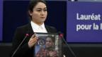 Jewher Ilham, Tochter des prominenten inhaftierten Wirtschaftsprofessors Ilham Tohti.