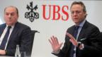 Axel Weber, Verwaltungsratspräsidenten der UBS (links), und der designierte CEO Ralph Hamers.