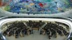 Sitzung des Menschenrechtsrates bei den Vereinten Nationen in Genf.