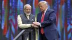 Der indische Premierminister Narendra Modi (li.) und der US-Präsident Donald Trump am Community-Gipfel «Howdy Modi» im September 2019 in Houston, Texas, USA.
