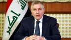 Der irakische Premierminister Mohammed Tawfiq Allawi hält am 19. Februar 2020 eine Fernsehrede.