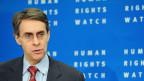 Kenneth Roth, der Direktor von Humans Right Watch während einer Medienkonferenz in Brüssel.