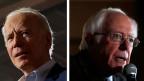 Die US-Präsidentschaftskandidaten: Der ehemalige Vizepräsident Joe Biden (links) und Senator Bernie Sanders.