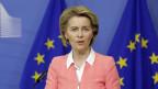 Die Präsidentin der Europäischen Kommission, Ursula von der Leyen, hält eine Pressekonferenz. Brüssel, 4. März 2020.