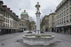 Leerer Bärenplatz in Bern.