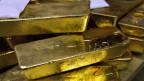 Ein-Kilogramm Goldbarren im Lager der Goldverarbeitungsfirma Argor-Heraeus in Mendrisio.