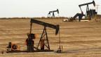 Eine Ölpumpe in Amerika.