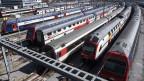 SBB-Züge stehen auf dem Abstellgleis in Zürich.