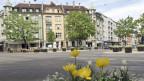Sicht auf den «Tellplatz» im Gundeldingerquartier in Basel.