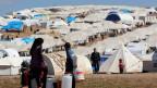 Flüchtlinge im Flüchtlingslager Atmeh in der nordsyrischen Provinz Idlib, Syrien.