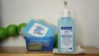 Desinfektionsmittel in einem Kindergarten.