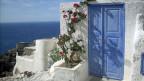 Auf Santorini, Griechenland.