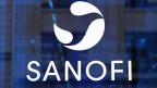 Logo des Pharmaunternehmens Sanofi in Paris.