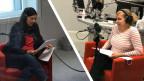 Die raffinierte Lüge 1: Im Studio sind Judith Huber (links) und Nicoletta Cimmino.