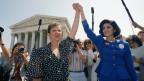«Jane Roe» (links) und ihre Anwältin am Obersten Gerichtshof.