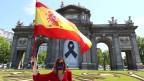 Protest gegen den Umgang der Regierung mit der Coronavirus-Pandemie (COVID-19) in Madrid.