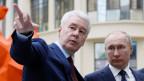 Der russische Präsident Wladimir Putin (rechts) und der Bürgermeister von Moskau Sergej Sobjanin.
