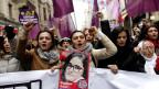 Eine Demo gegen Gewalt an Frauen in Instanbul